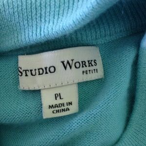 Studio Works Sweaters - STUDIO WORKS Petite Mock Turtleneck Sweater